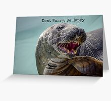 Happy Seal Greeting Card