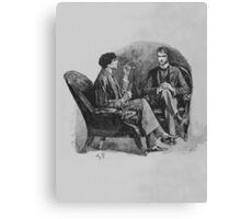 Sherlock Holmes No TXT Canvas Print