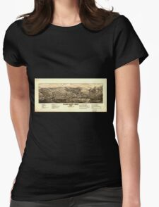 Panoramic Maps Black Hawk Colo 1882 Womens Fitted T-Shirt