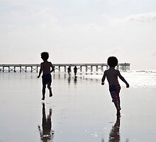 Boys on the Beach by Ginadg73