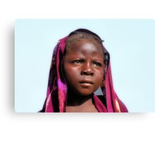 Mary 14 yeard old. Kebbe State, Nigeria. Canvas Print
