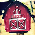 US Mail Barn Box { You've got mail series 2012 } by Julia Goss