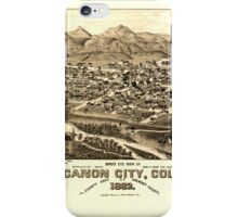 Panoramic Maps Bird's eye view of Canon City Colo county seat of Fremont County 1882 iPhone Case/Skin