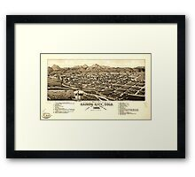 Panoramic Maps Bird's eye view of Canon City Colo county seat of Fremont County 1882 Framed Print