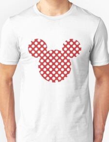 Mouse Silhouette Polka Dot Spotty Motif Unisex T-Shirt