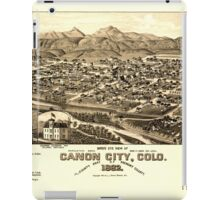 Panoramic Maps Bird's eye view of Canon City Colo county seat of Fremont County 1882 iPad Case/Skin