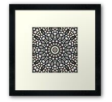 Black And Gray Abstract Framed Print