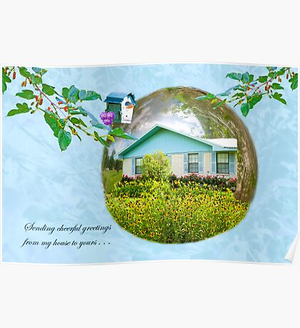 Cheerful Greetings from Mama's House Poster