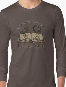 Cthulhu Tee Miskatonic U. Library Staff Long Sleeve T-Shirt