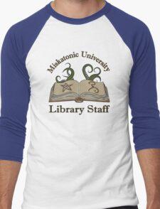 Cthulhu Tee Miskatonic U. Library Staff Men's Baseball ¾ T-Shirt