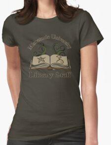 Cthulhu Tee Miskatonic U. Library Staff Womens Fitted T-Shirt