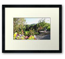 Buddha in Garden Framed Print