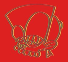 Rasta style Bisto Head tee in red by MrBisto
