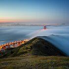 Moon Lit Fog - Golden Gate Bridge by Toby Harriman