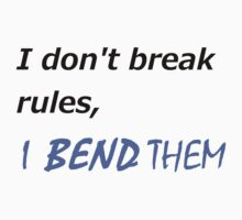 I DON'T BREAK RULES KORRA SHIRT by avatarem