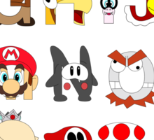 Super Mario Alphabet Sticker