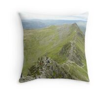 Striding Edge, Helvellyn Throw Pillow