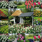 Wishing Well - Colourful Keukenhof Collage by MidnightMelody