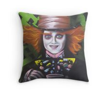 Mad Hatter - Alice Throw Pillow