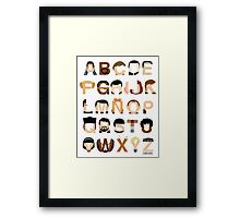 Star Trek Alphabet Framed Print