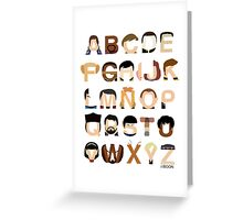Star Trek Alphabet Greeting Card