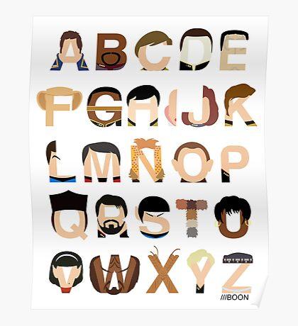 Star Trek Alphabet Poster
