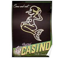 Mr Burns' Casino Poster