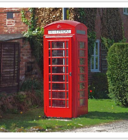 The Red Telephone Box Sticker