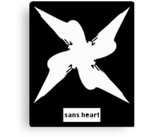 sans heart white Canvas Print