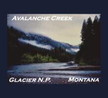 Avalanche Creek Confluence, Glacier N.P., Montana Kids Clothes