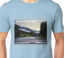 Avalanche Creek Confluence, Glacier N.P., Montana Unisex T-Shirt