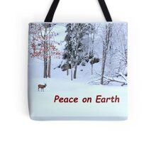 Winter Scene - Red Deer  Tote Bag