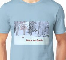 Winter Scene - Red Deer  Unisex T-Shirt