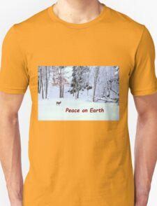 Winter Scene - Red Deer  T-Shirt