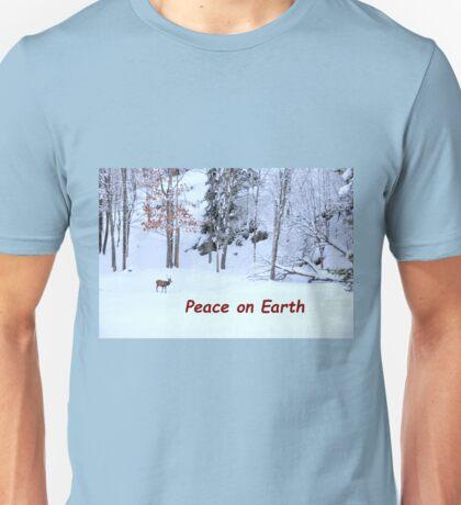 Winter Scene - Red Deer  Unisex T-Shirt