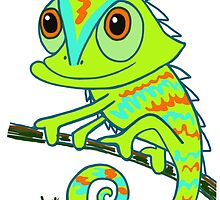Caper the Chameleon by artandrhyme