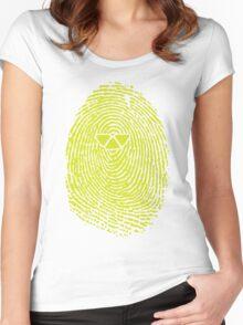 ARTIFICIAL FINGERPRINT Women's Fitted Scoop T-Shirt