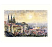 Dawn of Prague  Art Print