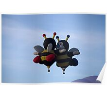 bee's hot air balloons Poster