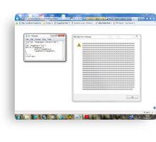 Javascript program: lol -(28/06/12)- screen printout Metal Print