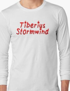 Critical Role - Tiberius Stormwind (Character Names) Long Sleeve T-Shirt