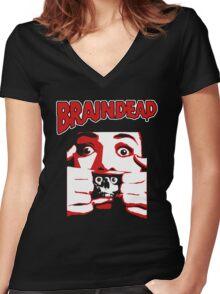 Braindead Women's Fitted V-Neck T-Shirt