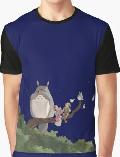 Totoro Forest Theme Graphic T-Shirt