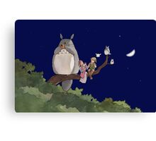 Totoro Forest Theme Canvas Print