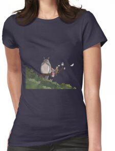 Totoro Forest Theme Womens Fitted T-Shirt