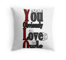 YOLO - You Obviously Love Owls Throw Pillow