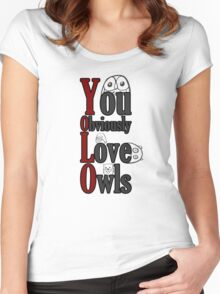 YOLO - You Obviously Love Owls Women's Fitted Scoop T-Shirt