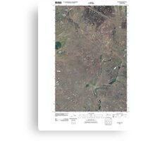 USGS Topo Map Washington State WA Telford 20110401 TM Canvas Print