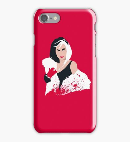 People always underestimate a girl in diamonds and furs (Cruella De Vil) iPhone Case/Skin