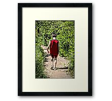 Hiking Alone With Deep Thoughts Framed Print